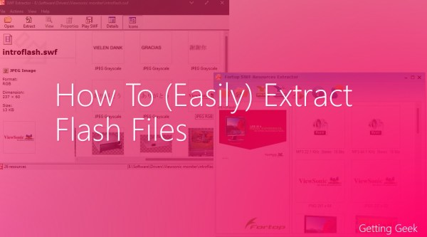 How to (Easily) Extract Flash/SWF Files?