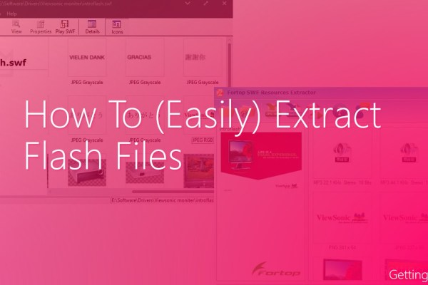 how to extract flash files