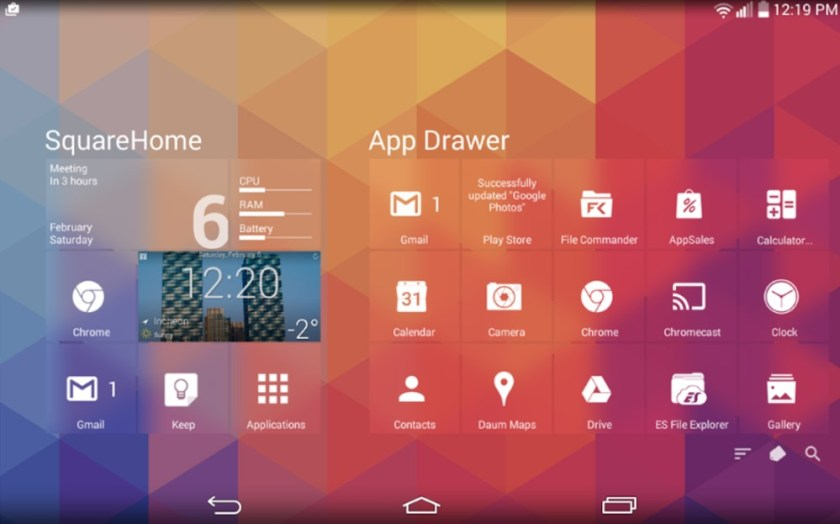 SquareHome is one of the best launchers for Android Tablets