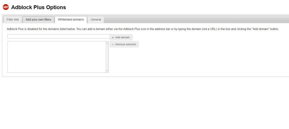 Adblock Plus makes it very easy to whitelist domains.