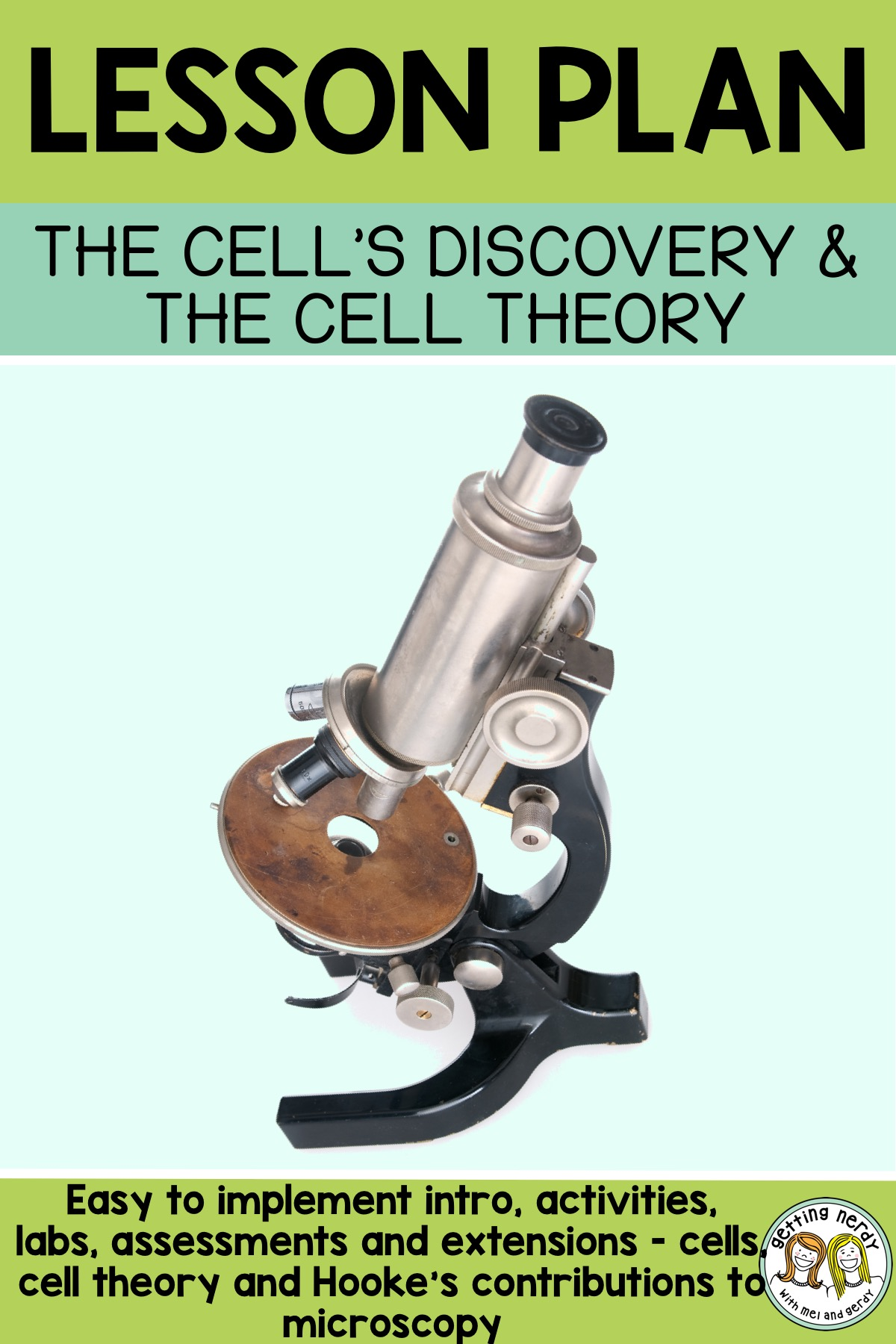 Lesson Plan Hooke Cells And Cell Theory
