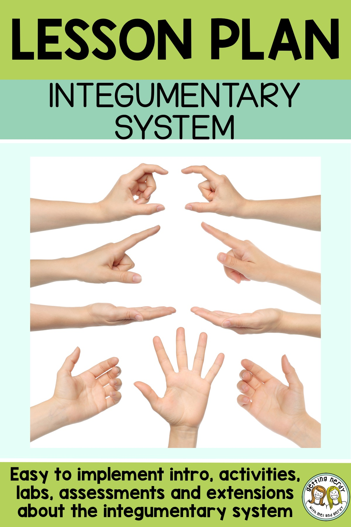 Lesson Plan Integumentary System Sensory Lab