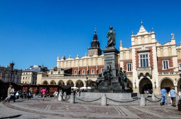 Part of Krakow's huge main square