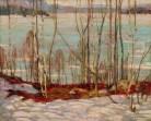 AY Jackson - Frozen Lake Early Spring Algonquin Park