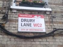 Drury Lane - street sign theatreland