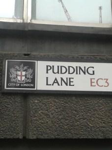 Pudding Lane sign