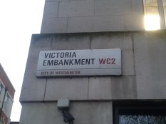 Victoria embankment - street sign