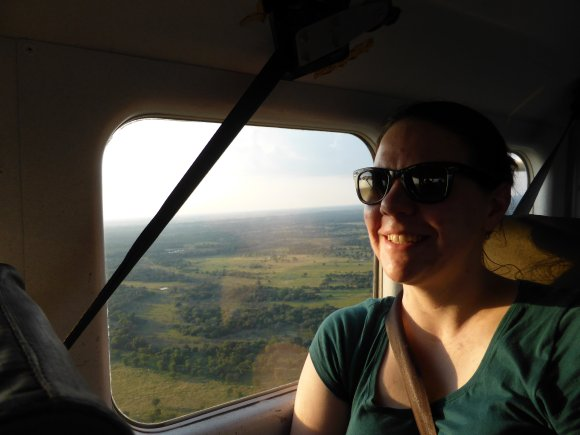 In a tiny plane over the Okavango Delta