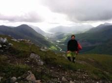 Men up proper hills.