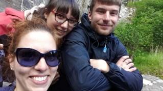 Glyka, Joanna, and Gav, warm and dry