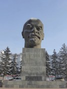 So cold Lenin is crying ice