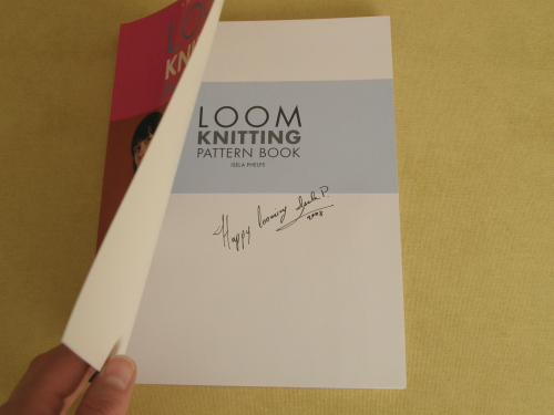 a Signed copy of the Loom Knitting Pattern Book!