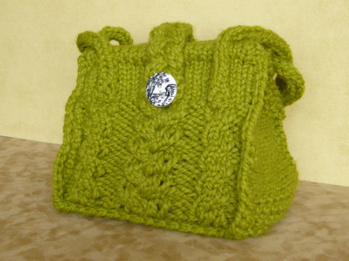 Braided Cables Bag 2 w-button