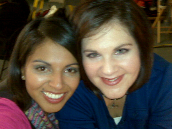 Isela and Bethany during the taping...