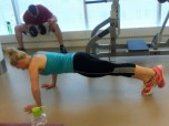 Bring the leg back so you are again in plank.
