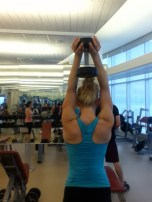 Top of a tricep extension.