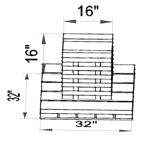 Typical Modular/manufactured home footing and cribbing size