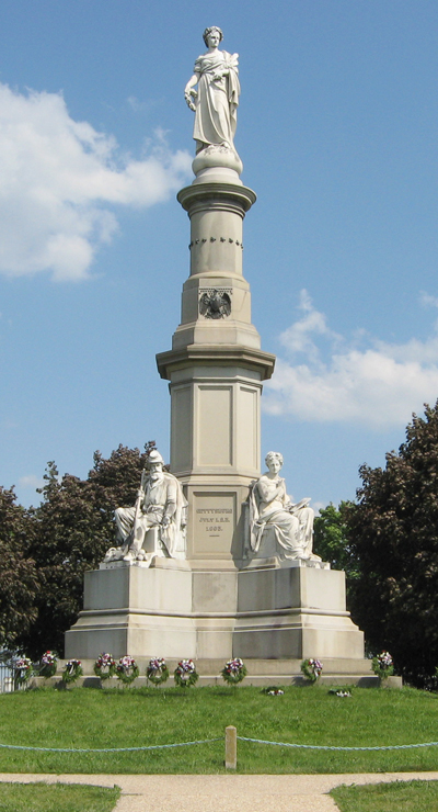 Soldiers National Monument in the National Cemetery at Gettysburg