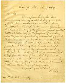 David McConaughy's Letter of Invitation to Robert E. Lee