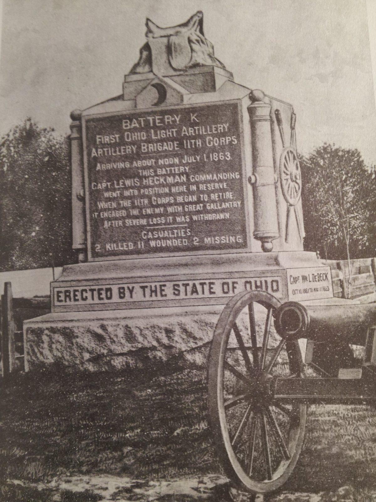 Heckman's Hidden Heroes:  Battery K, First Ohio Light Artillery, 11th Corps