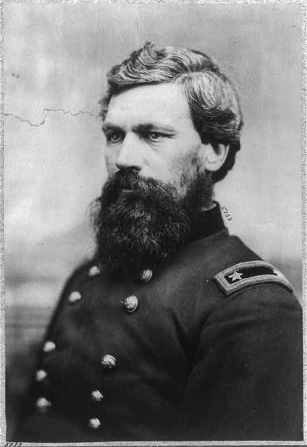 """""""Oliver Otis Howard, 1830-1909, bust portrait, facing left; in uniform."""" Library of Congress Prints & Photographs Online Catalog. Digital ID: cph.3b00473. Reproduction Number: LC-USZ62-52494."""