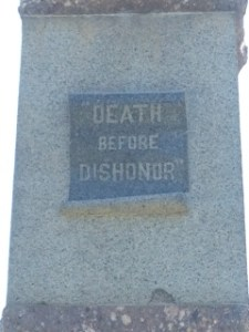 Monument inscription. Photo credit Blake Altenberg.