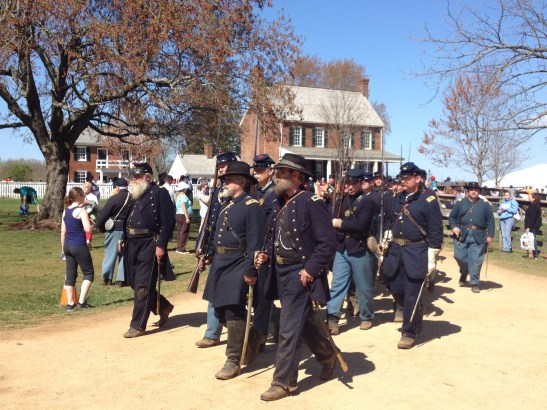 Union reenactors at the 150th Anniversary of the Battle of Appomattox. Photo by the author.