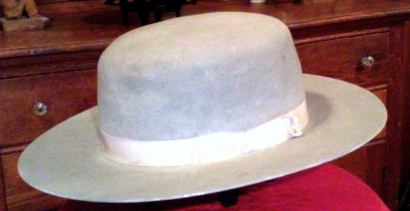 John B. Stetson's Boss of the Plains is considered to be the first cowboy hat. It was light-weight, durable, waterproof, and, above all, elegant. Photo courtesy of Wikimedia Commons.