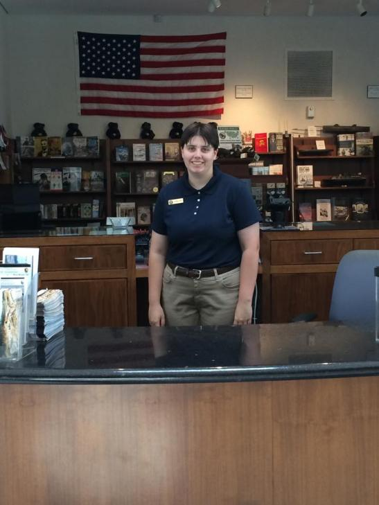 The author as an intern at Andersonville National Historic Site in the summer of 2013. Photo courtesy of Pamela Smith.