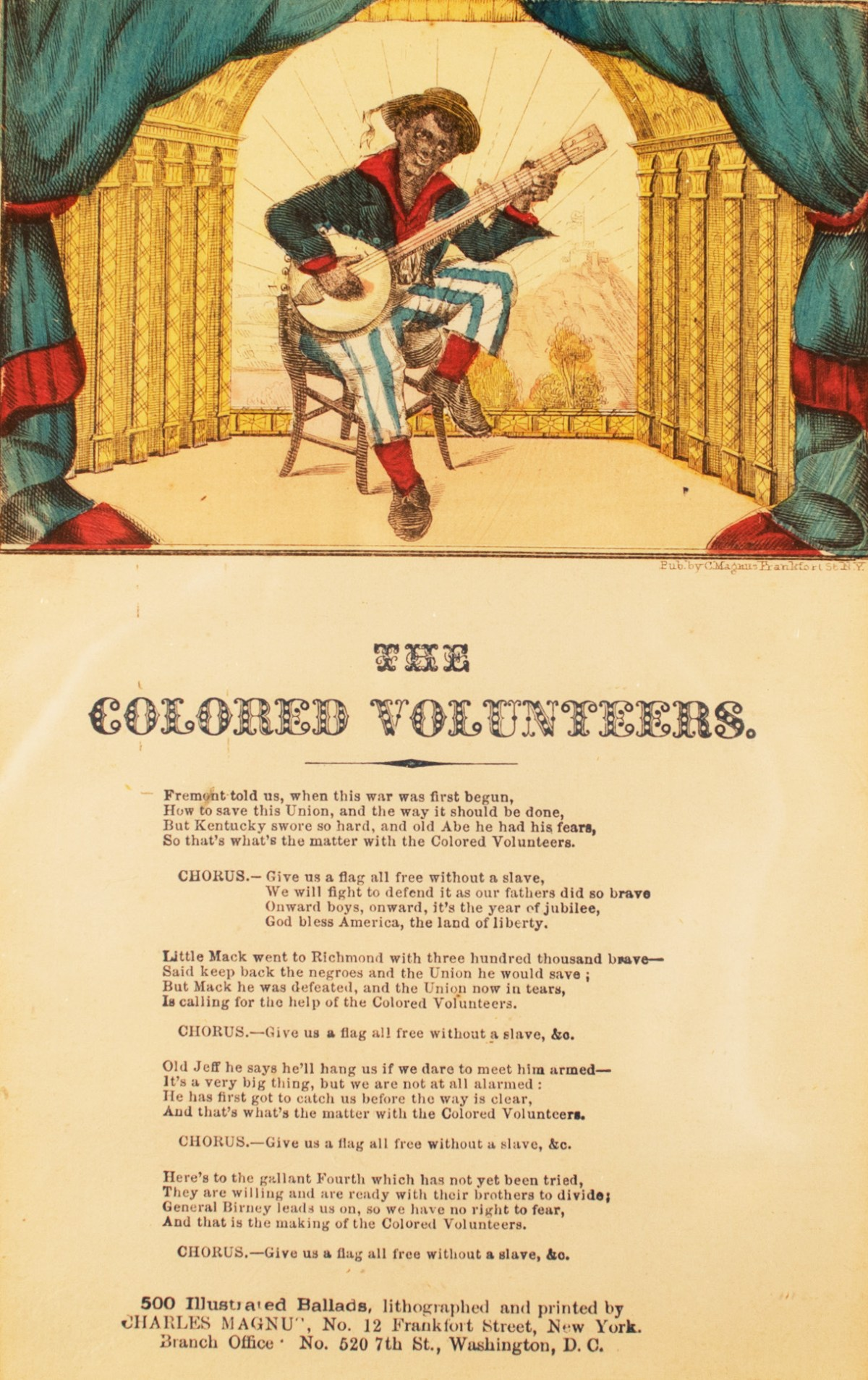 """""""The Colored Volunteers"""":  A Recruiting Tune for the USCT"""