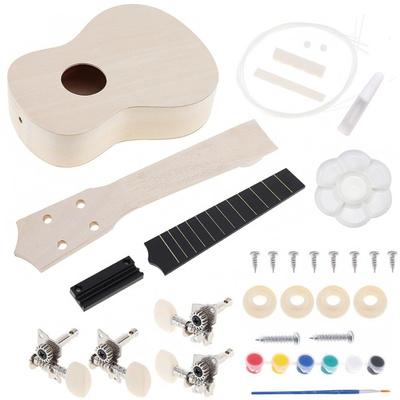 Soprano Ukulele DIY Kit with Full Acc