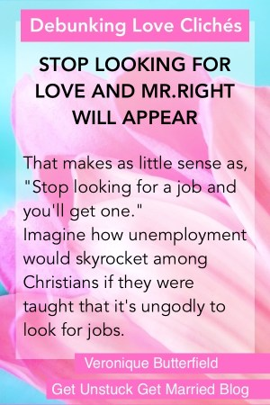 False myth: Stop looking for love and you will find Mr.Right