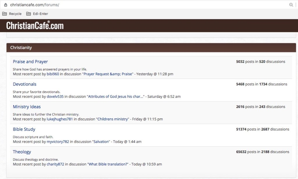 Christian Cafe Dating Site faith Forums