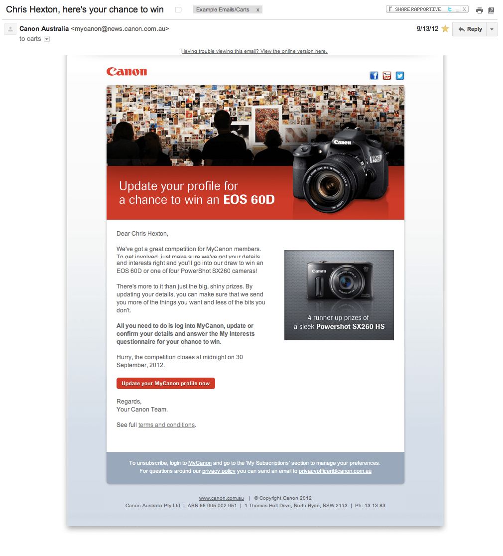 Canon Email Marketing
