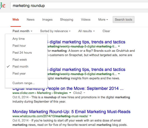 marketing roundups link building
