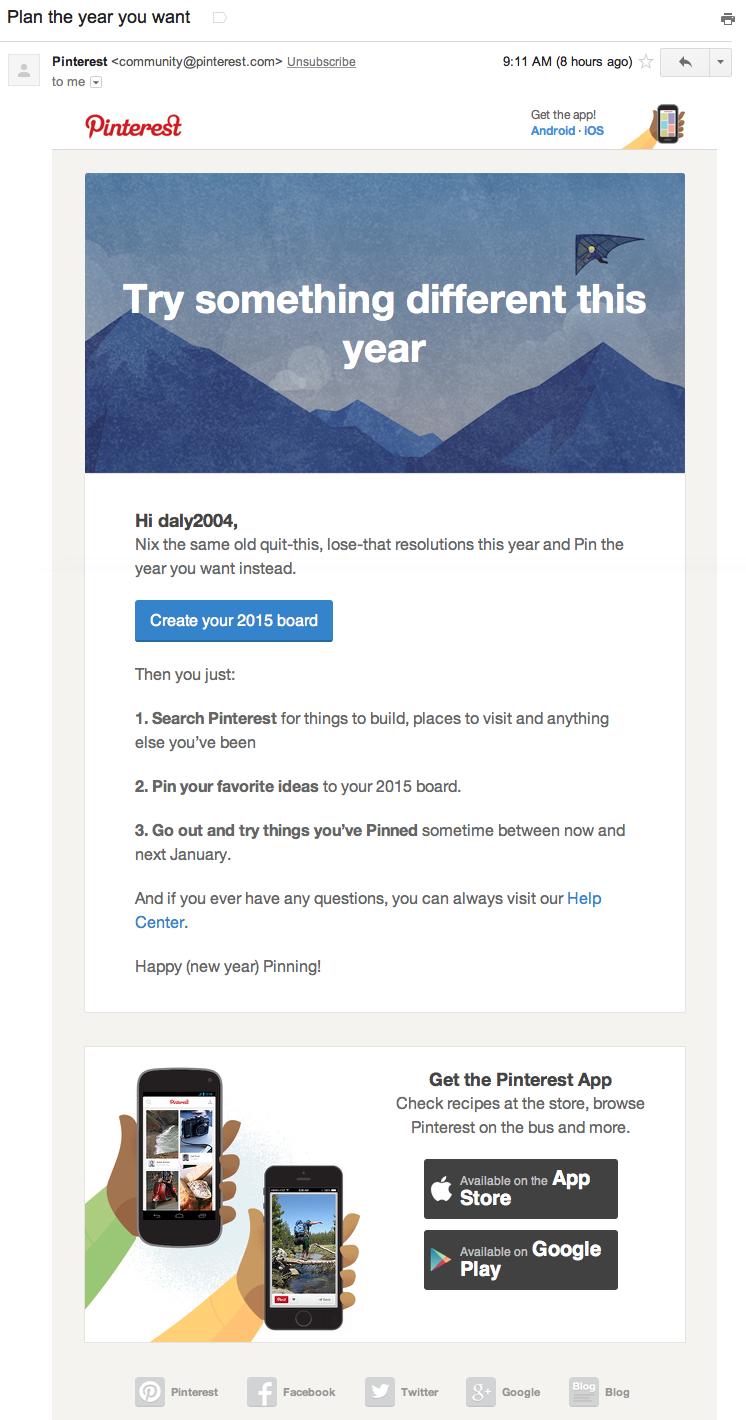 Pinterest 1-2-3 Email