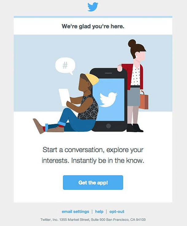 Twitter email marketing