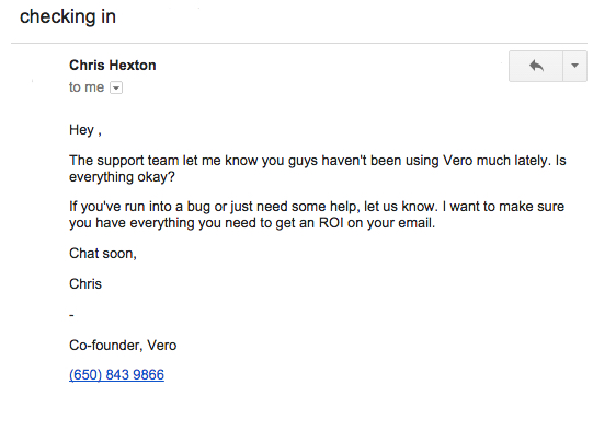 vero email example-1