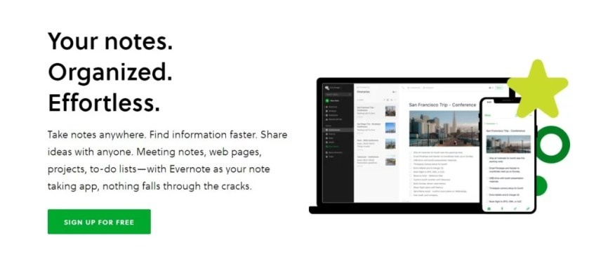Best productivity tools evernote