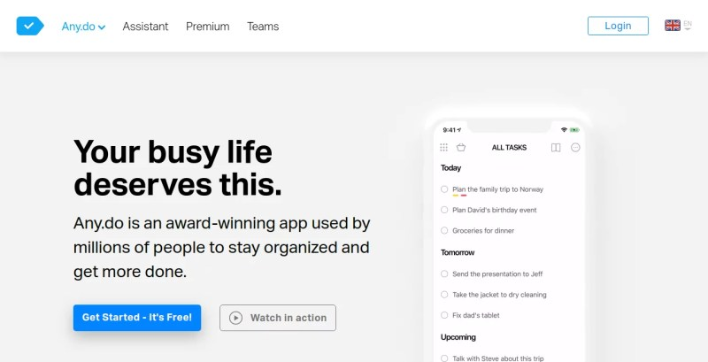 To-do-list-app-with-Calendar-Planner-Reminders Any.do