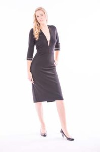 Black Heavy Jersey Dress