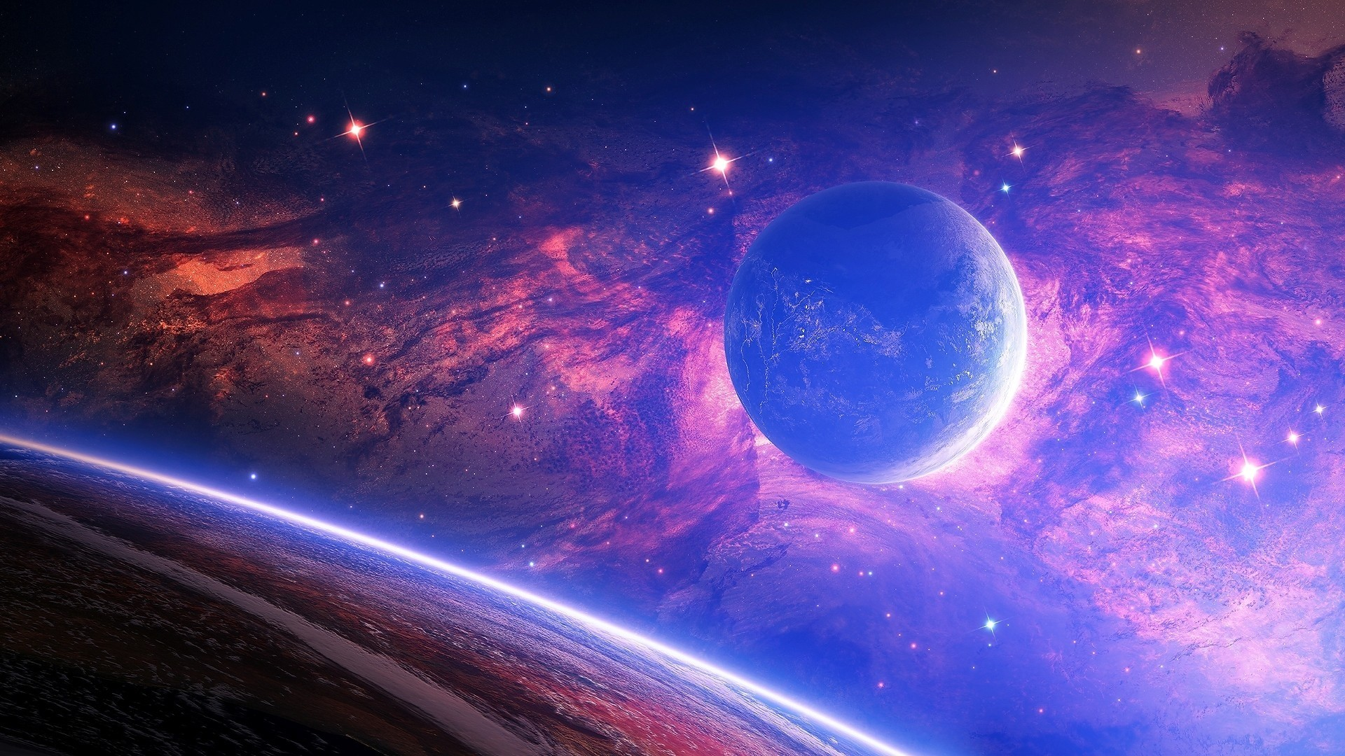 1920x1080 Space Wallpapers  85  images  1920x1080 Preview wallpaper planet  light  spots  space 1920x1080