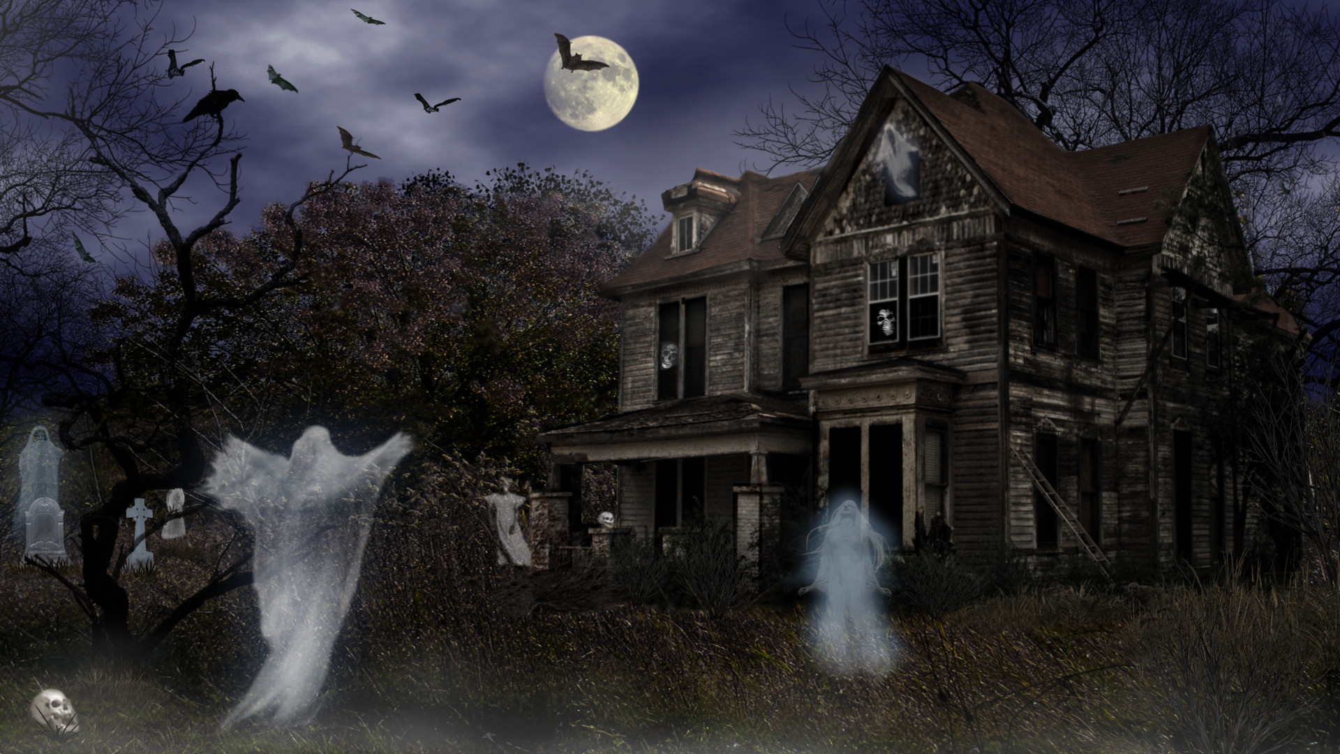 3d Haunted House Wallpaper 59 Images