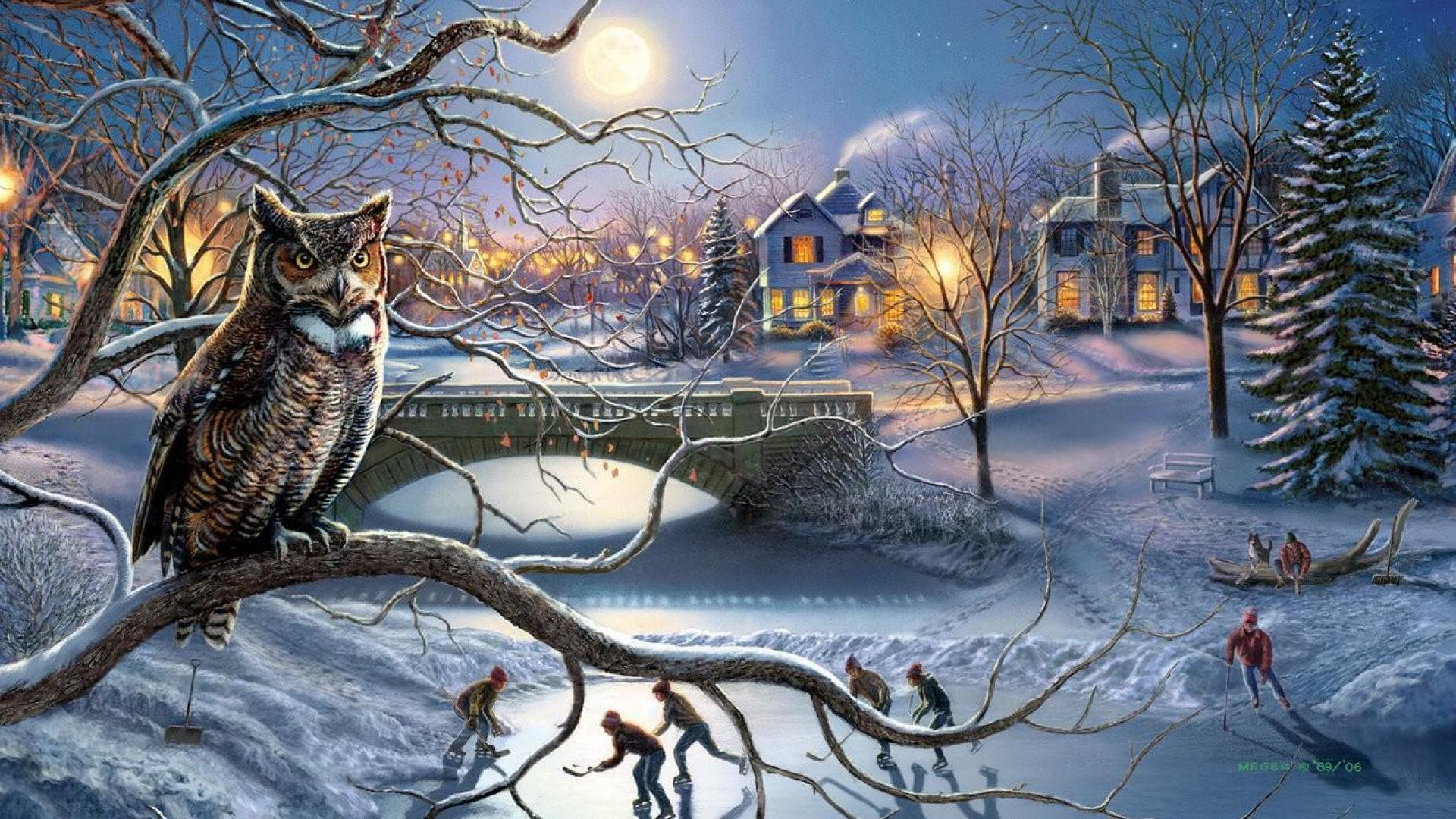 Owl Christmas Wallpaper 53 Images