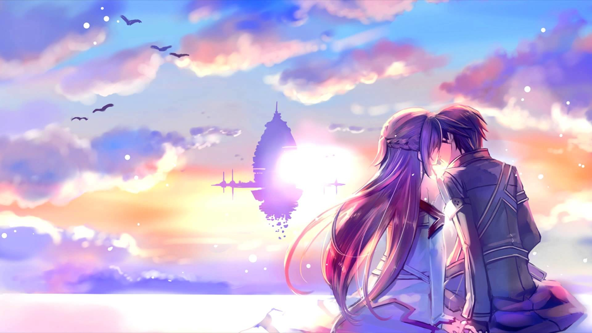 Romantic Anime Wallpapers  64  images  1920x1080 Romantic Asuna And Kirito Sword Art Online Wallpaper  2815