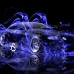 Blue Fire Car Wallpaper