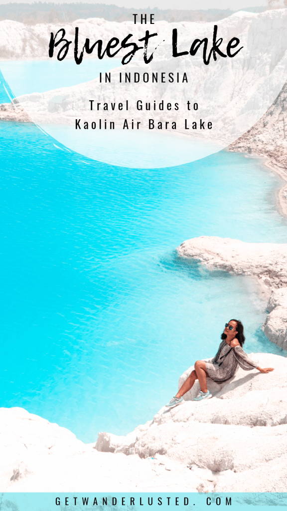 The Bluest Lake in Indonesia: Travel Guides to Kaolin Air Bara Lake