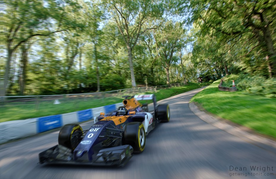 3D Formula 1 render and composite into real life setting.