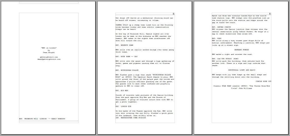 bb8 in London script