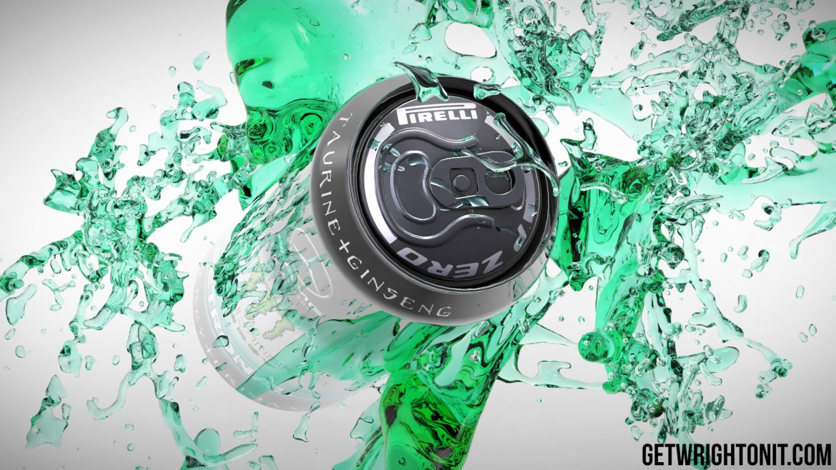 Mercedes F1 Monster Drink Can
